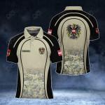 Customize Austria Coat Of Arms Camo All Over Print Polo Shirt