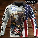 Customize US Air Force Veteran All Over Print Hoodies