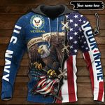 Customize US Navy Veteran All Over Print Hoodies