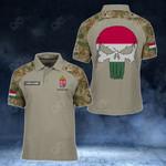 Customize Hungary Skull - Camo Style All Over Print Polo Shirt