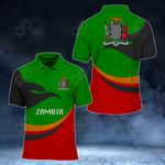 Zambia Proud Version All Over Print Polo Shirt