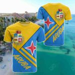 Aruba Coat Of Arms All Over Print T-shirt