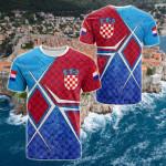 Croatia National Flag All Over Print T-shirt
