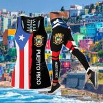 Puerto Rican Flag Hollow Tank Top Or Legging