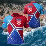 Croatia National Flag All Over Print Polo Shirt