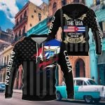 I May Live In The USA But My Story Began In Cuba - Flag All Over Print Shirts