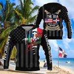 I May Live In The USA But My Story Began In Dominican Republic - Flag All Over Print Shirts