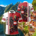 Austria Quarter Style All Over Print Polo Shirt