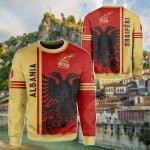 Albania Quarter Style All Over Print Shirts