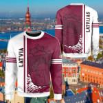 Latvia Quarter Style All Over Print Shirts