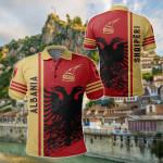 Albania Quarter Style All Over Print Polo Shirt