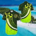 Cook Islands (Kuki Airani) Newest Style Short Sleeve Linen Button Down Shirt