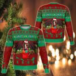 Cymru Christmas Warm Vibes - Green Red Sweatshirt