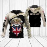 Customize British Army & Flag All Over Print Hoodies