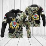 Customize Luxembourg Army - Coat Of Arms All Over Print Hoodies
