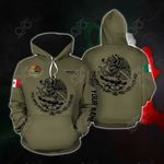 Customize Mexico Coat Of Arms All Over Print Hoodie