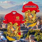Armenia Special Short Sleeve Linen Button Down Shirt