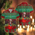Cymru Christmas Warm Vibes - Red Green Short Sleeve Linen Button Down Shirt