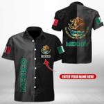 Customize Mexico - A Half Style Short Sleeve Linen Button Down Shirt