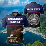 Customize American Samoa Coat Of Arms - Dat Style All Over Print Polo Shirt