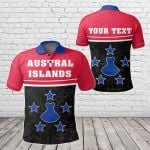 Customize Austral Islands Coat Of Arms - Dat Style All Over Print Polo Shirt