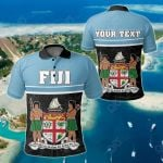Customize Fiji Coat Of Arms - Dat Style All Over Print Polo Shirt