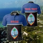 Customize Guam Coat Of Arms - Dat Style All Over Print Polo Shirt
