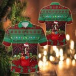 Cymru Christmas Warm Vibes - Red Green All Over Print Polo Shirt