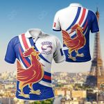 France Rugby - Flag With Gallic Rooster All Over Print Polo Shirt