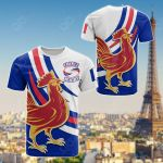 France Rugby - Flag With Gallic Rooster All Over Print T-shirt