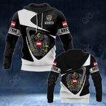 Customize Austria Coat Of Arms - Flag V2 All Over Print Hoodies