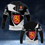 Customize Finland Coat Of Arms - Flag V2 All Over Print Hoodies