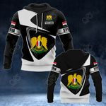 Customize Syria Coat Of Arms - Flag V2 All Over Print Hoodies