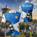 Scotland Lion Flag All Over Print Polo Shirt