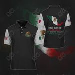 I May Live In The USA But My Story Began In Mexico All Over Print Polo Shirt