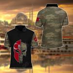 Turkish Army Symbol Camo All Over Print Polo Shirt