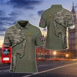 British Army Camo - Not For The Weak Of Fainthearted All Over Print Polo Shirt