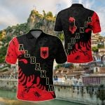 Albania Skyline All Over Print Polo Shirt