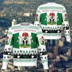 Nigeria Christmas White Sweatshirt