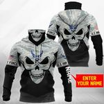 Customize U.S. Air Force - Skull Camo All Over Print Neck Gaiter Hoodie