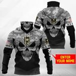 Customize U.S. Army - Skull Camo All Over Print Neck Gaiter Hoodie
