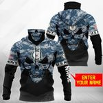 Customize U.S. Navy - Skull Camo All Over Print Neck Gaiter Hoodie