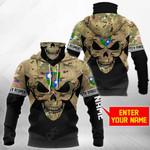 Customize U.S. Army 75th Ranger Regiment - Skull Camo All Over Print Neck Gaiter Hoodie