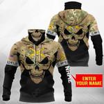 Customize U.S. Army Field Artillery - Skull Camo All Over Print Neck Gaiter Hoodie