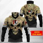 Customize 11th Armored Cavalry Regiment - Skull Camo All Over Print Neck Gaiter Hoodie