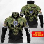 Customize U.S. Navy Seabee - Skull Camo All Over Print Neck Gaiter Hoodie