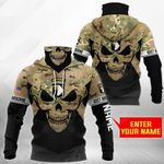Customize 101st Airborne Division - Skull Camo All Over Print Neck Gaiter Hoodie