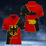 Customize Germany Coat Of Arms & Map - New Style All Over Print Polo Shirt