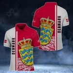 Denmark Coat Of Arms - Special Version All Over Print Polo Shirt
