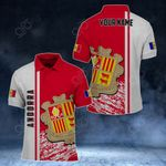 Customize Andorra Coat Of Arms - Special Version All Over Print Polo Shirt
